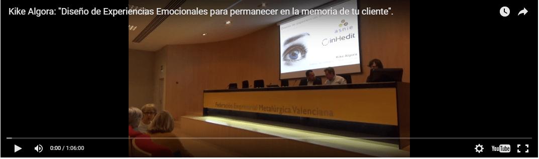 Vídeo de la conferencia de Kike Algora
